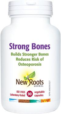 New Roots Strong Bones, 90 Capsules | NutriFarm.ca