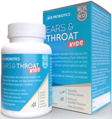 Blis Probiotics Ear and Throat for Kids, 48 g | NutriFarm.ca