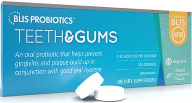 BLIS Probiotics Teeth and Gums with BLIS M18, 30 Lozenges | NutriFarm.ca