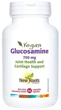 New Roots Vegan Glucosamine 70 mg, 60 Caps | NutriFarm.ca