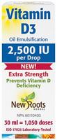 Vitamin D3 2,500 IU Extra Strength (liquid), 30 ml | NutriFarm.ca