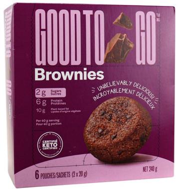 Good To Go Brownies 1 box ( 6 pouches )1*(2 x 20g)   NutriFarm.ca