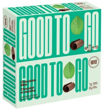 Good To Go Chocolate Mint Keto Bars, 1 box (9 bars x 40 g)   NutriFarm.ca
