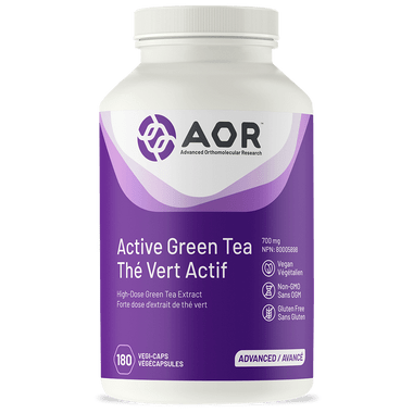 AOR Active Green Tea, 180 Vegetable Capsules | NutriFarm.ca