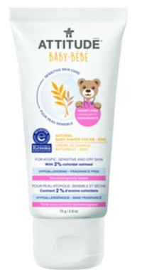 Attitude Natural Baby Diaper Zinc Cream, 75 ml | NutriFarm.ca