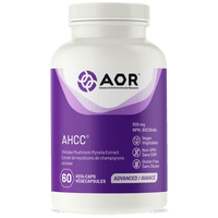 AOR AHCC, 60 Vegetable Capsules | NutriFarm.ca
