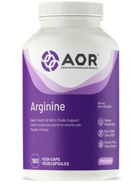 AOR Arginine, 180 Vegetable Capsules | NutriFarm.ca