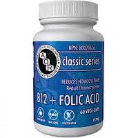 AOR B12 + Folic Acid, 60 Vegetable Capsules | NutriFarm.ca