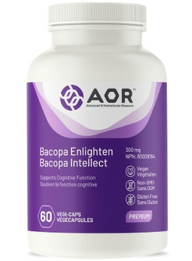 AOR Bacopa Enlighten, 60 Vegetable Capsules | NutriFarm.ca
