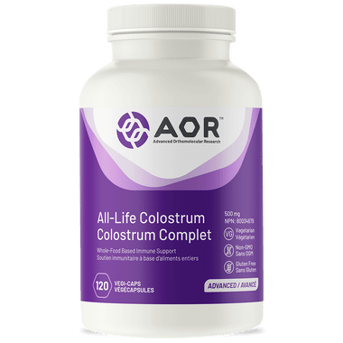 AOR All Life Colostrum, 120 Vegetable Capsules | NutriFarm.ca