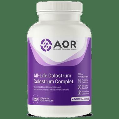 AOR All Life Colostrum, 120 Vegetable Capsules | NutriFarm.ca