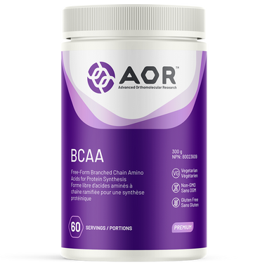 AOR Branched Chain Amino Acids (BCAA), 300 g Powder | NutriFarm.ca