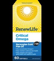 RENEW LIFE Norwegian Critical Omega, 60 Capsules | NutriFarm.ca