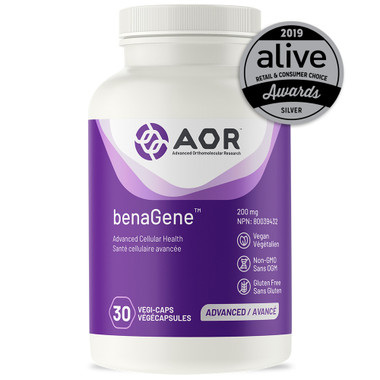 AOR BenaGene, 30 Vegetable Capsules | NutriFarm.ca