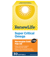 RENEW LIFE Norwegian Gold Super Critical Omega, 30 Capsules | NutriFarm.ca