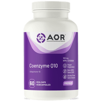 AOR Co-EnzymeQ10, 60 Vegetable Capsules | NutriFarm.ca