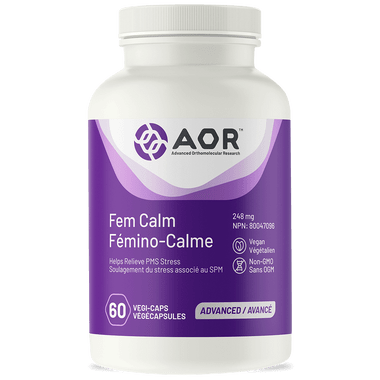 AOR Fem Calm, 60 Vegetable Capsules | NutriFarm.ca