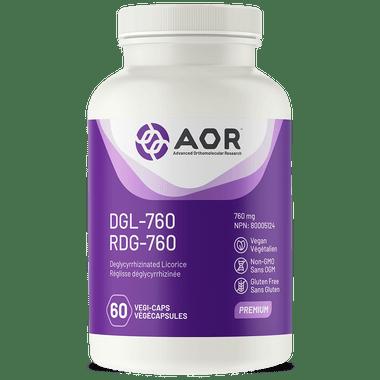 AOR DGL-760, 60 Vegetable Capsules | NutriFarm.ca