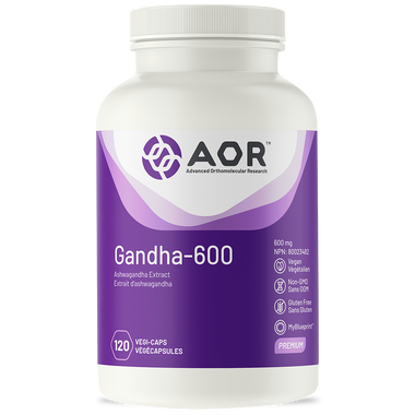 AOR Gandha 600, 120 Vegetable Capsules | NutriFarm.ca