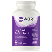 AOR Holy Basil, 60 Vegetable Capsules | NutriFarm.ca