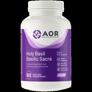AOR Holy Basil, 60 Vegetable Capsules | NutriFarm.ca