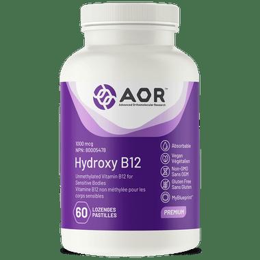 AOR Hydroxy B12, 60 Lozenges | NutriFarm.ca