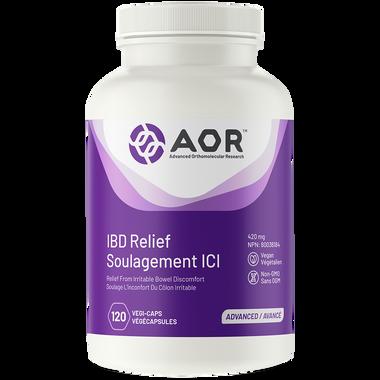 AOR IBD Relief, 120 Vegetable Capsules | NutriFarm.ca