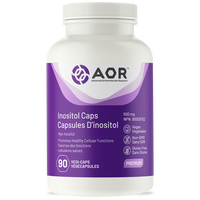 AOR Inositol, 90 Vegetable Capsules | NutriFarm.ca