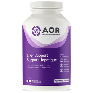 AOR Liver Support, 180 Vegetable Capsules | NutriFarm.ca