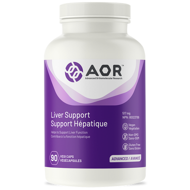AOR Liver Support, 90 Vegetable Capsules | NutriFarm.ca
