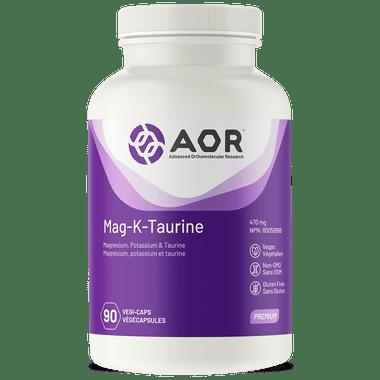 AOR Mag-K Taurine, 90 Vegetable Capsules | NutriFarm.ca