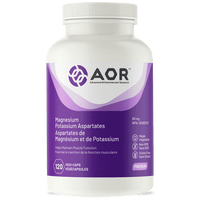 AOR Magnesium and Potassium Aspartates, 120 Vegetable Capsules | NutriFarm.ca