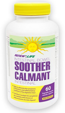RENEW LIFE Intestinal Bowel Soother, 60 Vegetable Capsules | NutriFarm.ca