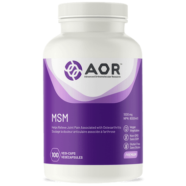 AOR MSM, 100 Vegetable Capsules | NutriFarm.ca