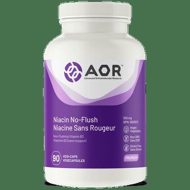 AOR Niacin No-Flush, 90 Vegetable Capsules   NutriFarm.ca