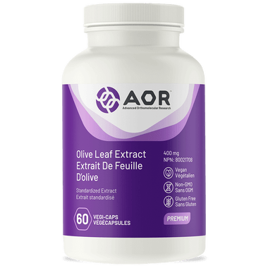 AOR Olive Leaf Extract, 60 Vegetable Capsules | NutriFarm.ca