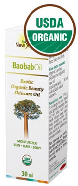 New Roots Baobab Oil (Certified Organic, Pure), 30 ml | NutriFarm.ca
