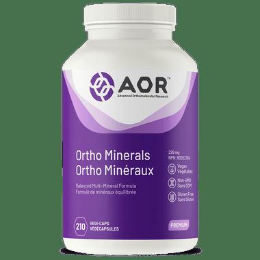 AOR Ortho Minerals, 210 Vegetable Capsules | NutriFarm.ca