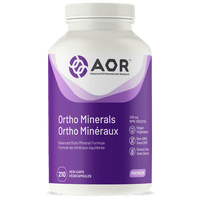 AOR Ortho Minerals, 210 Vegetable Capsules | NutriFarm.ca