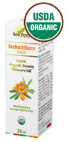 New Roots Seabuckthorn Seed Oil (certified Organic), 30 ml | NutriFarm.ca