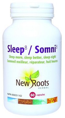 New Roots Sleep 8, 60 Capsules | NutriFarm.ca