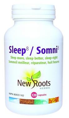 New Roots Sleep 8, 120 Capsules | NutriFarm.ca