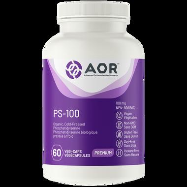 AOR PS-100, 60 Vegetable Capsules | NutriFarm.ca
