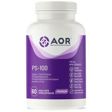 AOR PS-100, 60 Vegetable Capsules | NutriFarm.ca