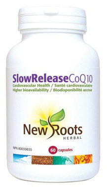 New Roots SlowRelease CoQ10, 60 Capsules | NutriFarm.ca