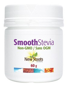 New Roots Smooth Stevia, 60 g | NutriFarm.ca
