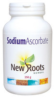 New Roots Sodium Ascorbate 100%, 250 g | NutriFarm.ca