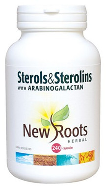 New Roots Sterols & Sterolins With Arabinogalactan, 240 Capsules | NutriFarm.ca