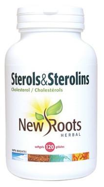 New Roots Sterols & Sterolins Cholesterol, 120 Softgels | NutriFarm.ca