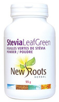 New Roots Stevia Leaf Green, 55 g | NutriFarm.ca